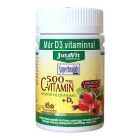 Jutavit c-vitamin+d3 500 mg tabletta [45 db]