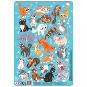 Keretes Puzzle 53 db - Macskák