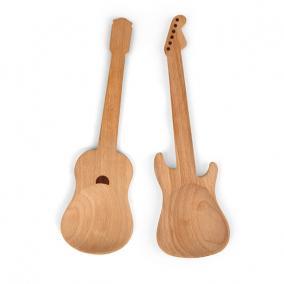 Kínálótál gitáros, fa (2 db/szett)
