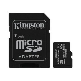 Kingston 32GB micSDHC Canvas Select Plus 100R A1 C10 Kártya+ ADP