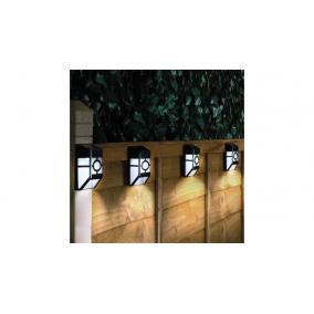 Kültéri fekete trapéz szolár lámpa [4db]