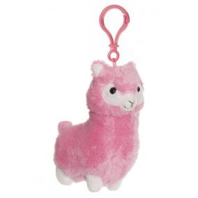 Láma táskadísz 11 cm, rózsaszín Teddykompaniet