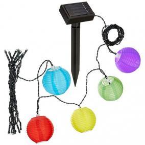 Napelemes lampionfüzér [10 db-os]