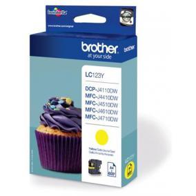 Brother LC 123 [Y] tintapatron (eredeti, új)