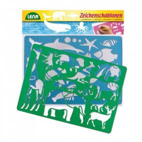 Lena afrikai és tengeri állatos rajzsablon