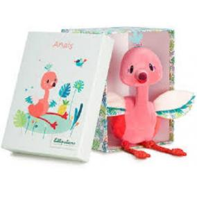 Lilliputiens 83087 Anais flamingó puha plüssfigura díszdobozban 83087