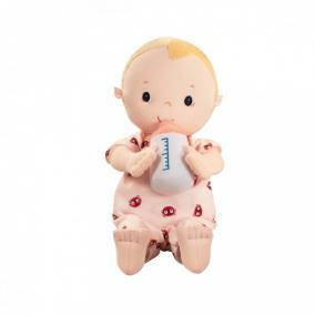 Lilliputiens 83116 Öltöztethető Lou baba pelenkával, cumisüveggel