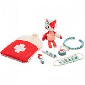 Kicsi orvos táska és a kis róka