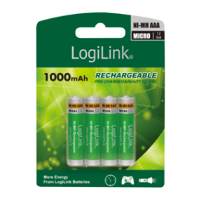 LOGILINK - AAA Ni-MH rechargeable batteries, Micro, 1.2V, 4pcs
