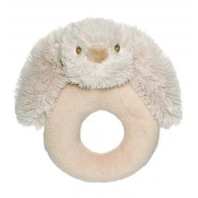 Lolli nyuszi világosbarna csörgő 14 cm Teddykompaniet