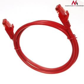 Maclean MCTV-300R Patchcord UTP cat6 Cable plug-plug 0,5m red