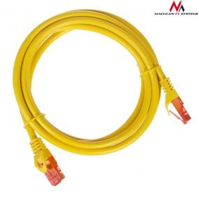 Maclean MCTV-302Y Patchcord UTP cat6 Cable plug-plug 2m yellow