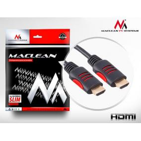 Maclean MCTV-814 Cable HDMI-HDMI 5m v1.4 30AWG cable with ferrite filters