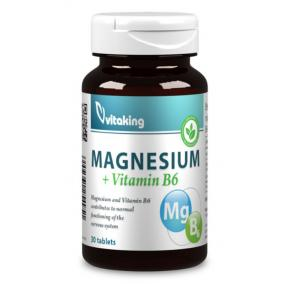 Vitaking Magnézium + B6 vitamin [30 db]