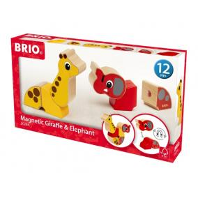 Mágneses zsiráf és elefánt 30284 Brio