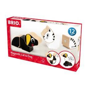 Mágnses kutya és cica 30269 Brio