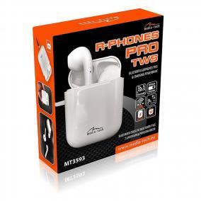 Media-Tech MT3593 R-PHONES PRO TWS Bloetooth headset fehér