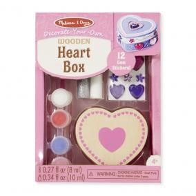 Melissa & Doug Kreatív játék, Fa doboz díszítés, szív