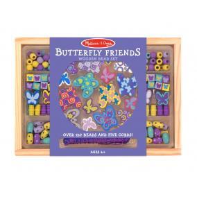 Melissa & Doug Kreatív játék, Fa gyöngy szett, pillangó
