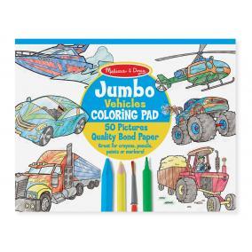 Melissa & Doug Kreatív játék, Jumbo színező, járművek