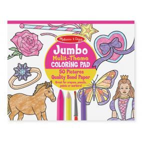 Melissa & Doug Kreatív játék, Jumbo színező, pink
