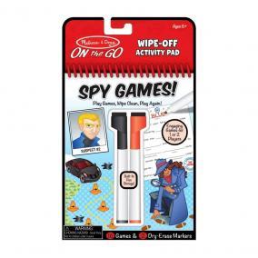 Melissa & Doug Kreatív játék, Letörölhető lapok, kémjátszma
