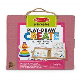 Melissa & Doug Kreatív játék, Letörölhető rajzoló és mágneses játékkészlet - hercegnő