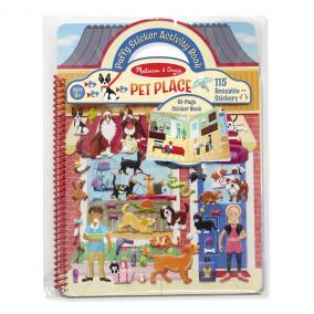 Melissa & Doug Kreatív játék, Pufi matrica készlet, házi kedvencek