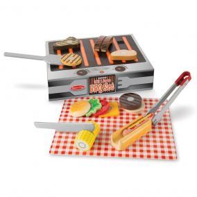 Melissa & Doug Szerepjáték, Fa grill és barbecue tálaló szett