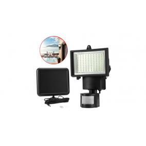 Mozgásérzékelős, napelemes reflektor, 60 LED, 4W, 180lm