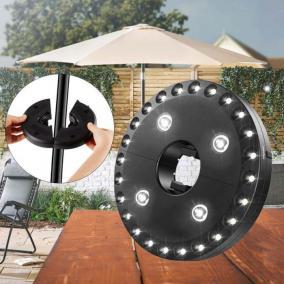 LED napernyő világítás, 28LED, elemes