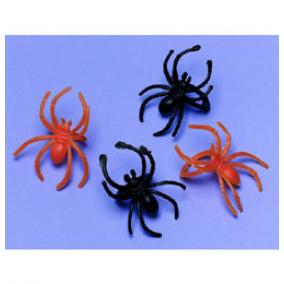 Narancssárga és Fekete Pókos Gyűrű Halloweenre - 30 db-os