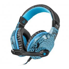 Natec NFU-0863 Fury Hellcat Gaming mikrofonos fejhallgató, vezetékes, fekete-kék