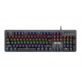 Natec NFU-1394 Fury Tornado billentyűzet, gaming, RGB háttérvilágítás, mechanikus, US kiosztás