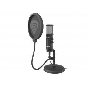 Natec Genesis NGM-1241 Radium 600 Studio mikrofon, vezetékes, fekete