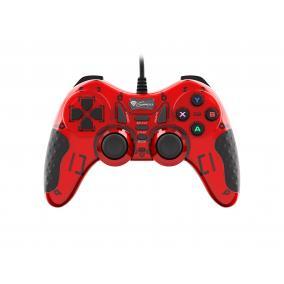 Natec Genesis NJG-1425 Megan 200 gamepad, vezetékes, USB (PC) piros-fekete