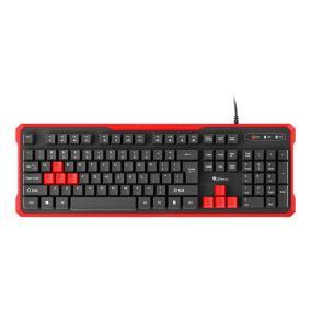 Natec NKG-0939 Genesis Rhod 110 Gaming billentyűzet, vezetékes, US kiosztás, fekete-piros