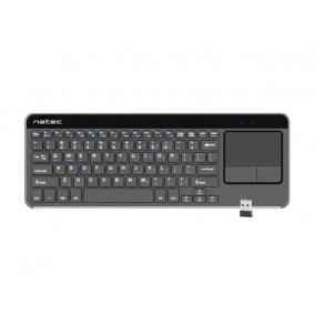 Natec Turbot vezeték nélküli billentyűzet, TouchPad-os, Smart TV-hez, 2.4 GHz, X-Scissors /angol kiosztás/