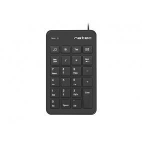 Natec NKL-1333 Goby numerikus billentyűzet, vezetékes, USB, fekete