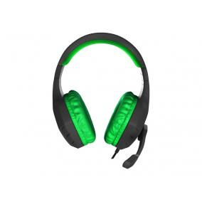 Natec Genesis NSG-0903 Argon 200 Gaming mikrofonos fejhallgató, vezetékes, fekete-zöld