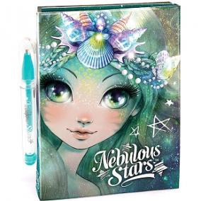 Nebulous Stars Mini jegyzetfüzet matricákkal tollal Marinia