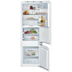 Neff KI6873FE0, Beépíthető, alulfagyasztós hűtő-fagyasztó kombináció, 209+61L