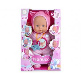 Nenuco - puha testű baba, 5 funkcióval és kiegészítőkkel