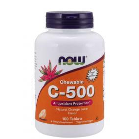 Now c-500 narancs ízű rágótabletta [100 db]