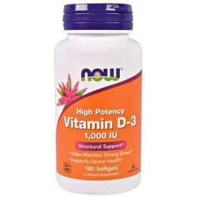 Now vitamin d-3 kapszula 1000 iu [180 db]