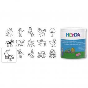 Nyomda készlet gyermekeknek - farm 15 db Heyda
