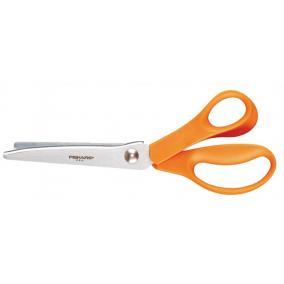 Olló, cikkcakk, 23 cm, FISKARS Classic, narancssárga