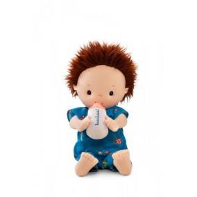 Öltöztethető Noa baba pelenkával, cumisüveggel