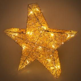 Pamut csillag füzér 20 LED, Retlux RXL 327