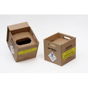 Veszélyes hulladékgyűjtő papír /10L/ fóliával